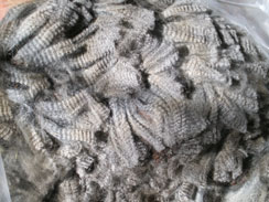Bundles of alpaca fiber